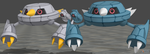 XPS Pokemon X and Y Beldum and Metang by zoid162010