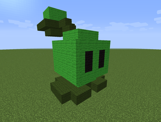 Minecraft Cabbage-pult by magolorandmarx