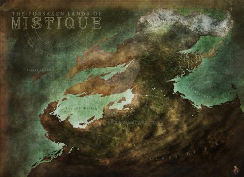 Fantasy Map - Mystique by Djekspek