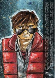 Sketchcard - Marty Mc Fly by Canjoke
