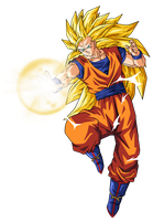Goku super saiyan 3 by BardockSonic