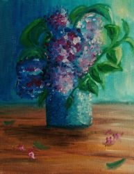lilac oil on canvas by ReVercetti