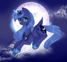 AT.:-Little Luna- by Clefficia