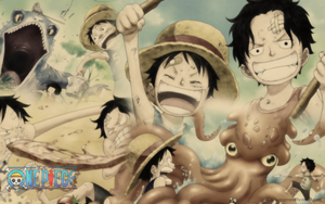 Luffy and Ace childhood by Urara87