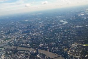 The Thames from the sky by CyclicalCore