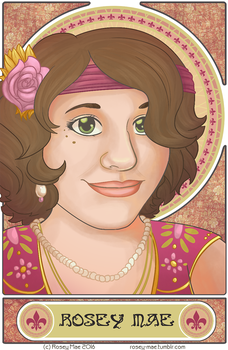 Mucha Inspired Self Portrait - WITH VIDEO PROCESS by RoseyRoseyMae