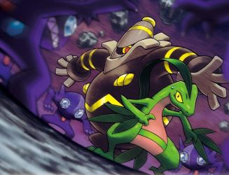 Grovyle and Dusknoir Surrounde by thundaflare