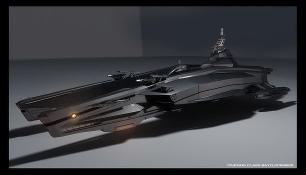 3d Typhoon Battlecruiser by MAKS-23