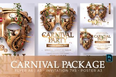 Carnival Party   Flyer, Invitations and Posters by RomeCreation