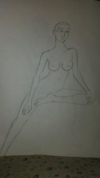 Nude model drawing #1 by prime-player5