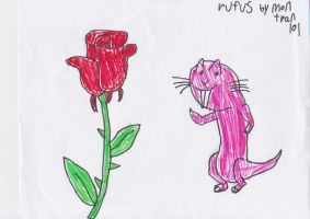 Rufus And the Rose 2 by montrain101