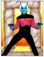 Star Trek NextGen Andorian Guy by Frohickey