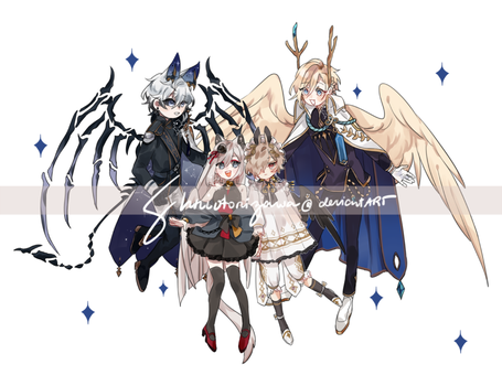 a smol winged family by shriotorizawa