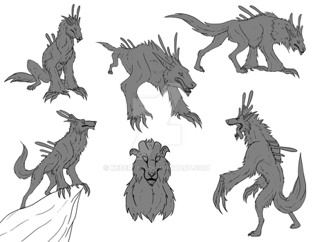 Page o' Sketches for Stygma by Keberyna
