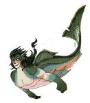 Merman by Sanguynn