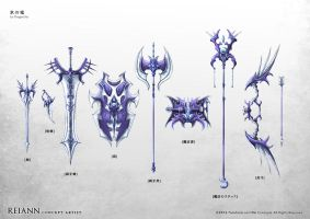 Ice Dragon Weapons Set by rei-ann