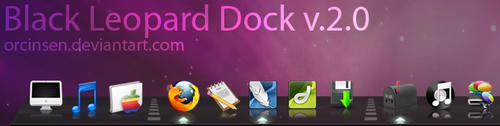 Black Leopard 3D Dock v.2.0 by orcinsen
