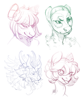 Sketch headshots comms by 5019