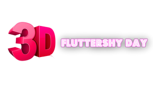 3D Fluttershy Day by Paulie999