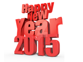 Happy New Year 2015 3D PNG by Dinesh-Musiclover