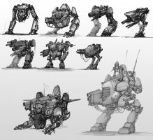 Mech concepts by AlexBoca