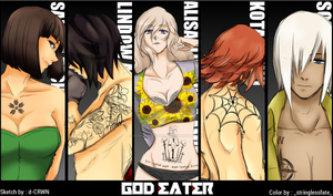 [God Eater] First Unit x Tattoos by Katherine07Kirkland