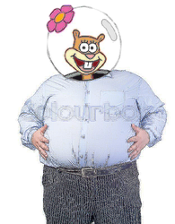 Sandy Cheeks Gets Fat and Chubby [request] by holyphat1