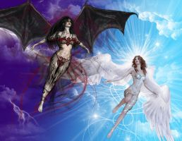 Angel and Demon by Dannys-angel