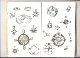 compass and compass rose by chaitanyak
