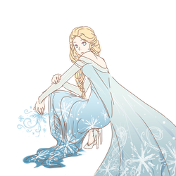 Transparent Elsa by iiping
