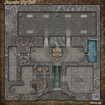 RPG Encounters Map - Cult by Alegion