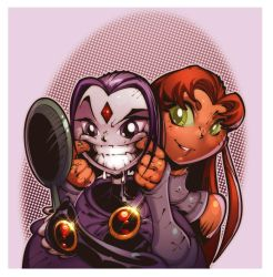 Raven and Starfire by wagnerf