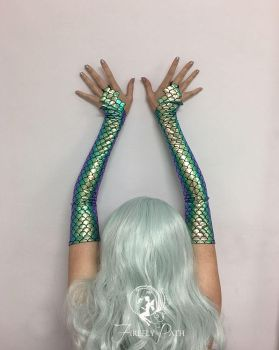 Green Mermaid Sleeves by Firefly-Path