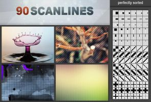 90 Scanlines Pattern Pack by h3design