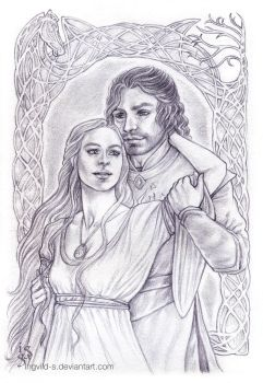 Faramir and Eowyn - Healing Hearts by IngvildSchageArt