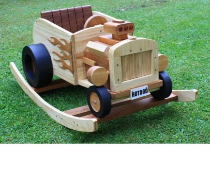 Wooden Rocking HotRod by StevesWoodenToys