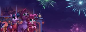 What We Expect(EquestriaCN 2018 NewYear Banner) by LUciferAmon