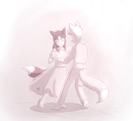 Olivia And David: Shut Up And Dance With Me by Foxhatart