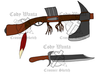 RWBY Fan Weapon (Fire and Fang) by CrosmirSketch