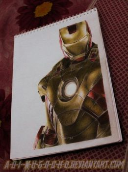 Iron Man 3 on paper by im-sorry-thx-all-bye