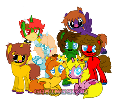 Mario  Characters Ponyfied by GamingStarLuigiSin