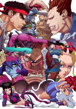 Street Fighter vs Darkstalkers by CREONfr