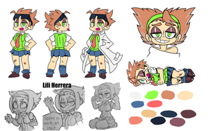 Lili the Pygmy Reference Sheet by MouthlessRobot