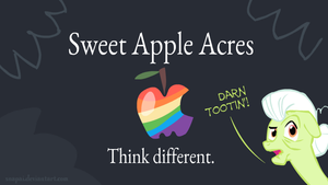 Sweet Apple Acres - Think Different by Snapai