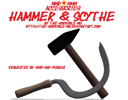 [MMD + M3 Accessories] Hammer and Sickle + DL by The-Horrible-Mu