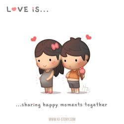 Love is... sharing happy moments together! by hjstory