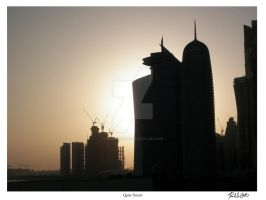 Qatar Sunset by zephyrofgod