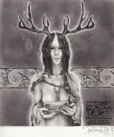 Deer Woman's Gift by myceliae