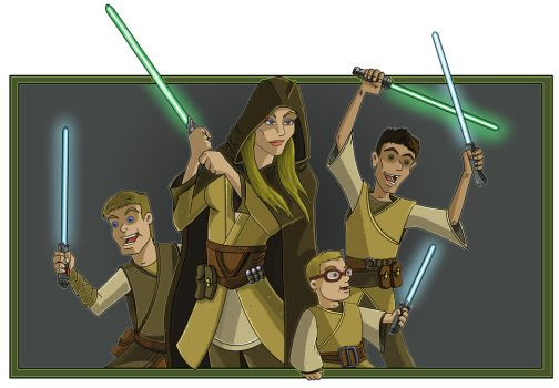 Allison And Boys Jedi by DangerousArtist