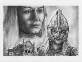 Eowyn and Eomer by CKArtpage